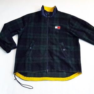 Vintage Tommy Hilfiger Blue Plaid Fleece Jacket